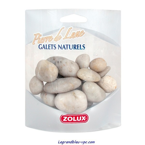 Galets pierre de lune zolux le grand bleu for Nettoyer galets blancs
