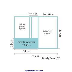 Bac à décantation pour cubic 62 - Blau