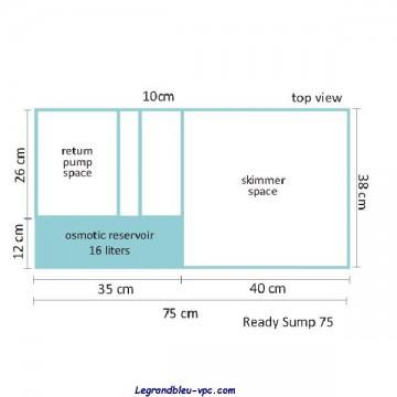 Bac à décantation pour cubic 92 et 122 - Blau
