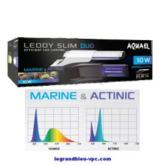 AQUAEL LEDDY SLIM DUO Marine et Actinic10 watts