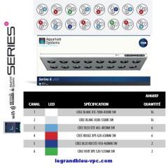 Rampe Led SERIES 6-60 E.D Aquarium Systems 176 watts