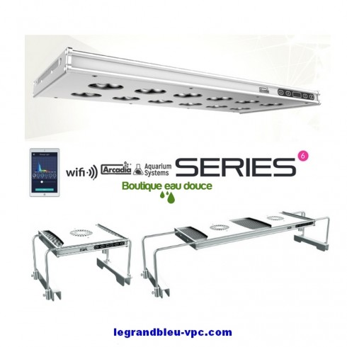Rampe Led SERIES 6-90 E.D Aquarium Systems 264 watts